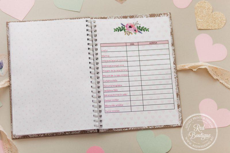 agenda pentru organizarea nuntii