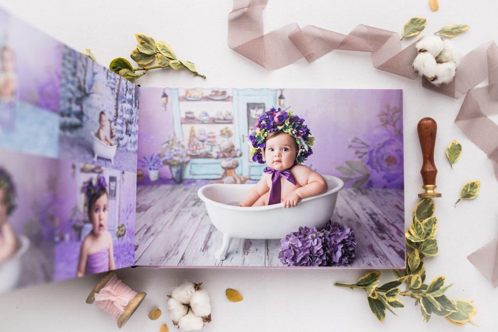 album fotografii de studio bebe