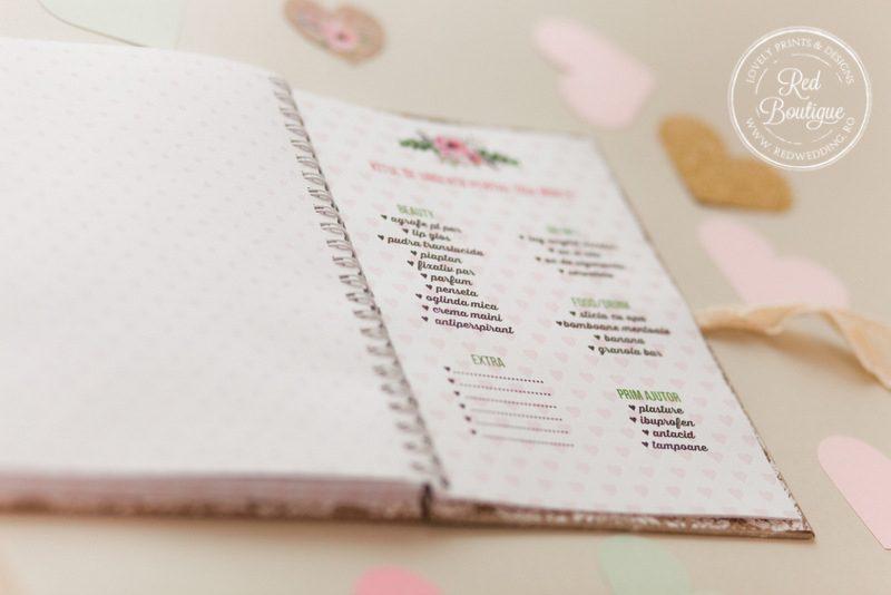 agenda personalizata pentru nunta